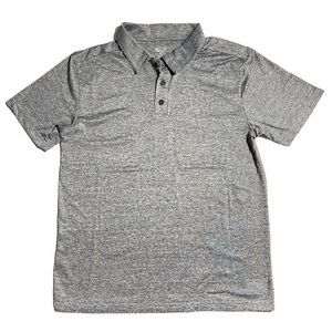 ACX Active Wear Workout T-Shirt Polo Shirt Gray